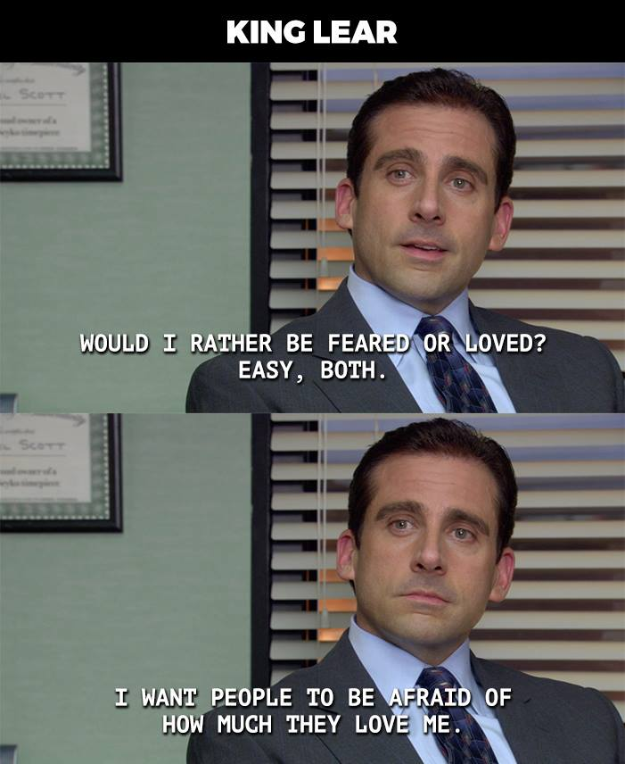 Shakespeare Plays Summed Up by a Quote from The Office