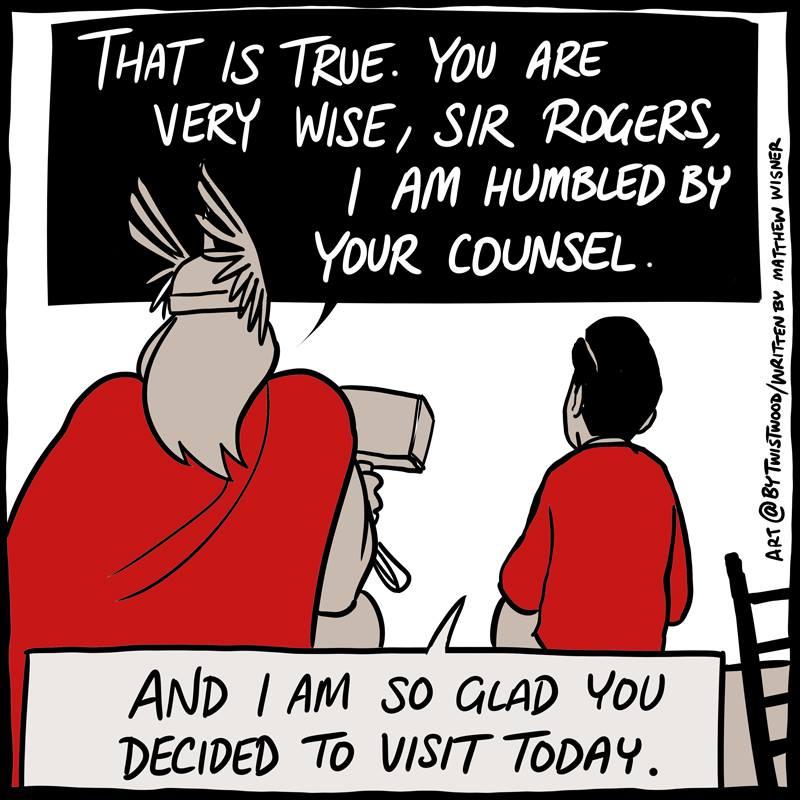 Thor Meets Mr  Rogers Comic