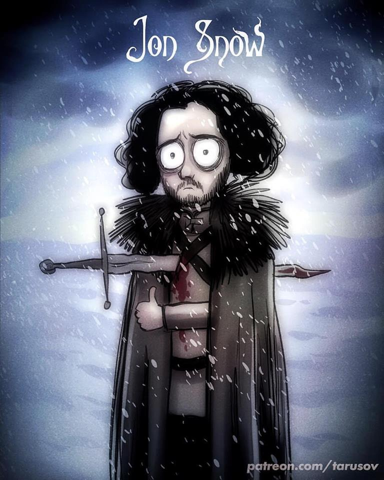 Tim Burton Style Game of Thrones Fan Art