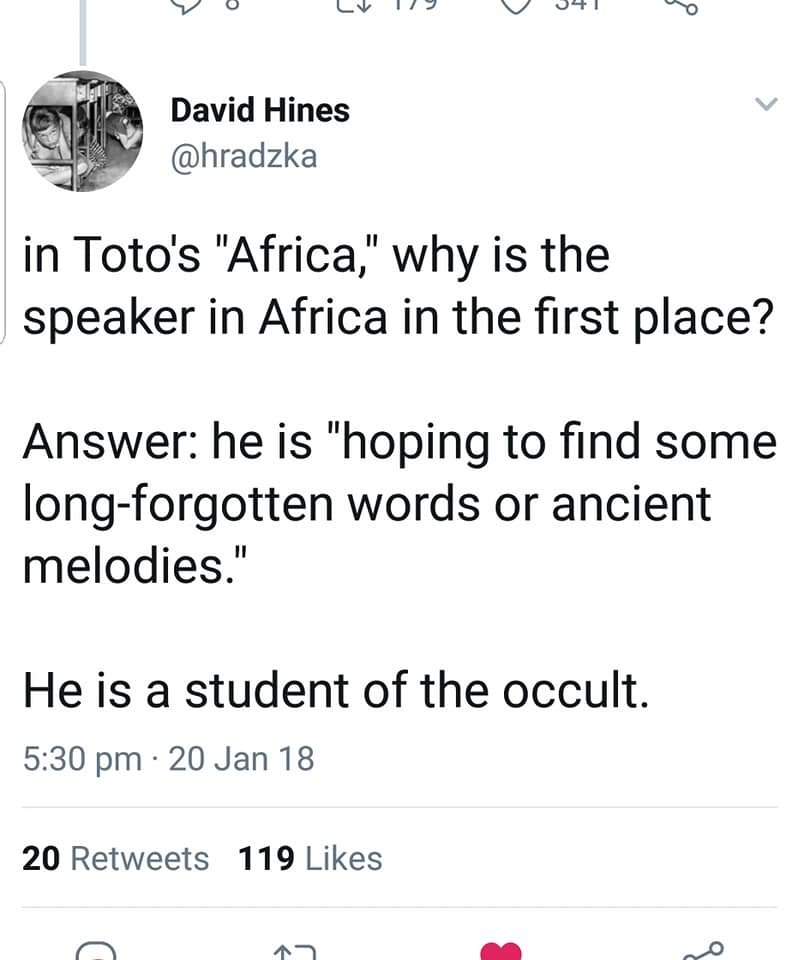 Occult Theory of Totos Africa