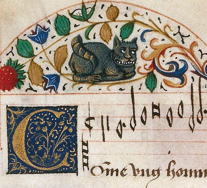 Hilariously Ugly Medieval Cat Paintings