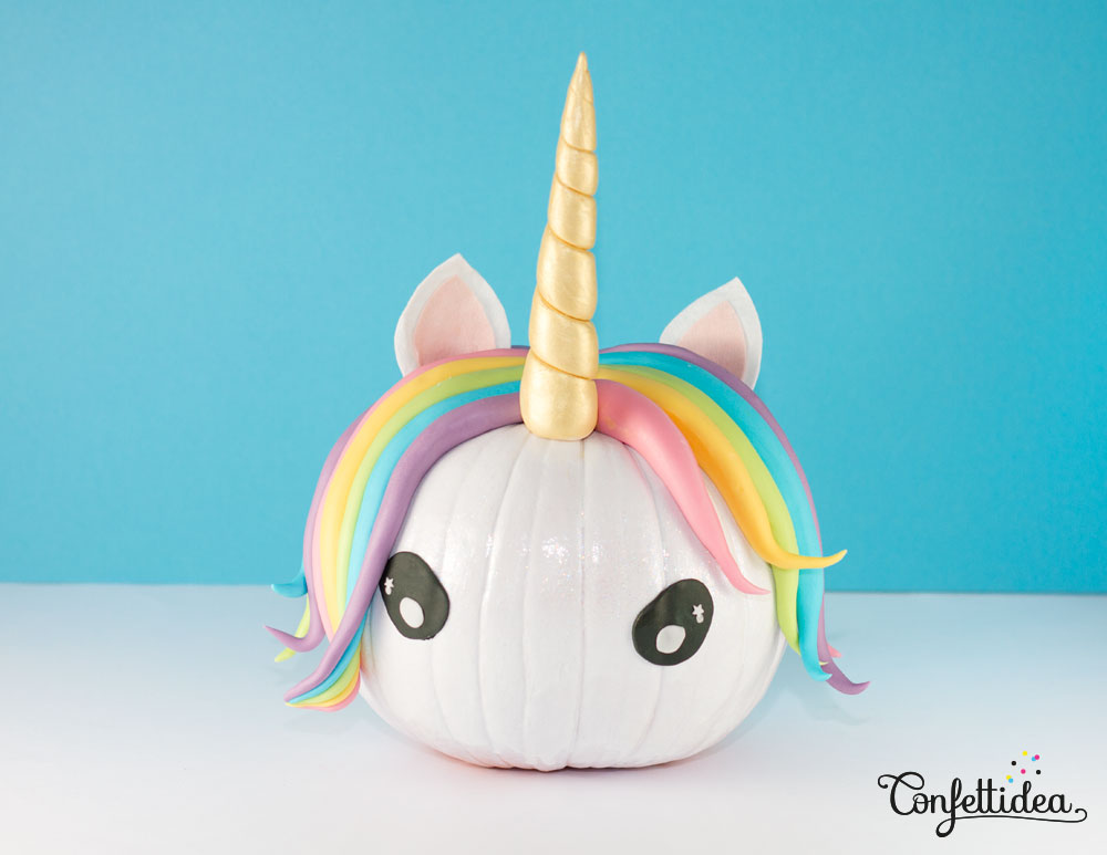 DIY Halloween Unicorn Pumpkins