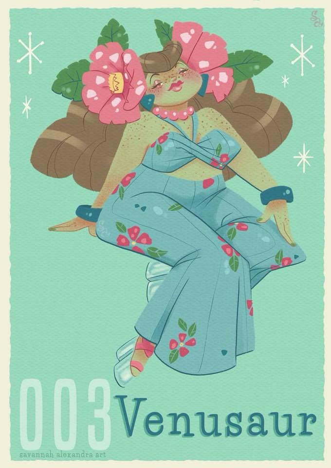 Vintage Pokemon Gijinka Fan Art