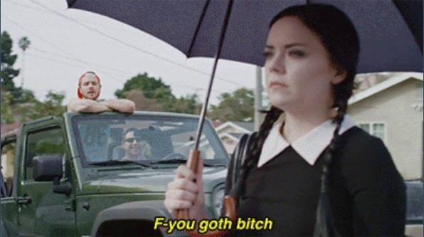 Adult Wednesday Addams Gets Catcalled