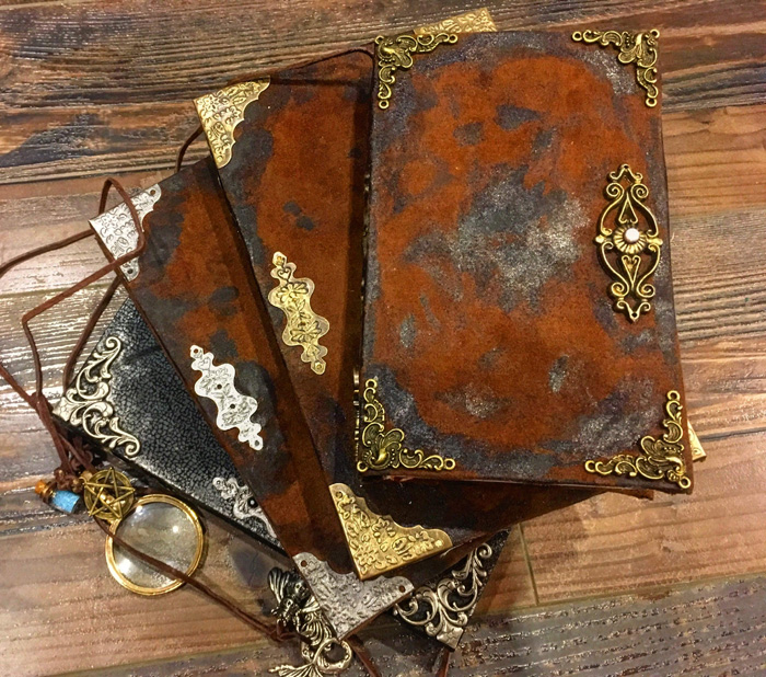 Re-Binding Books Into Antiqued Hardcovers