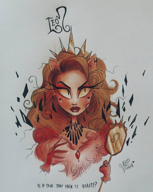 Tim Burton Style Zodiac Art