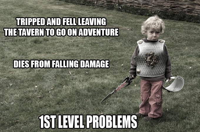 Dungeons & Dragons First Level Problems