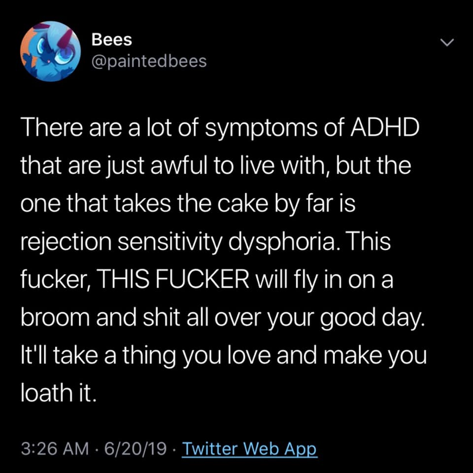 Rejection Sensitive Dysphoria with ADHD