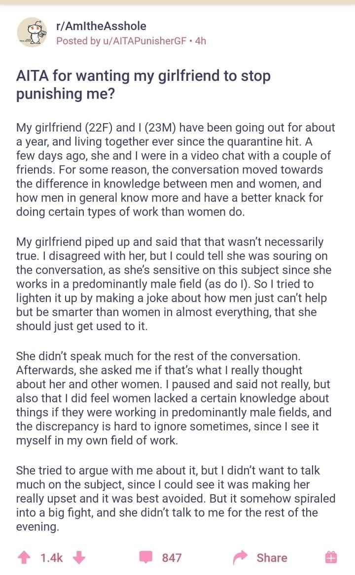 Boyfriend Says Stupid Sexist Things and Gets Served