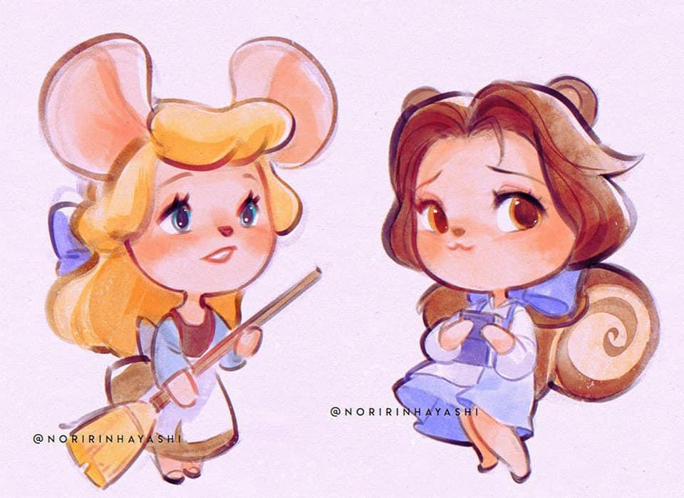 Disney Animal Crossing Mashup Fan Art