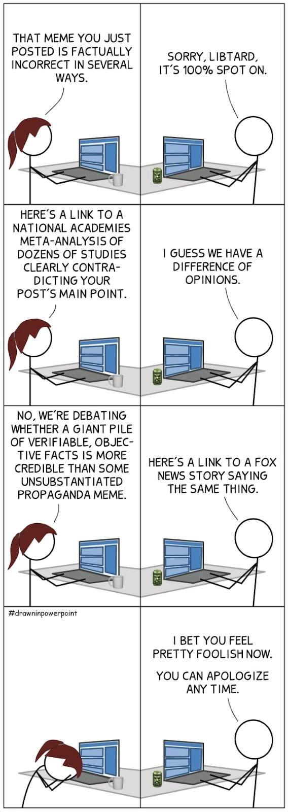 Political Internet Arguments