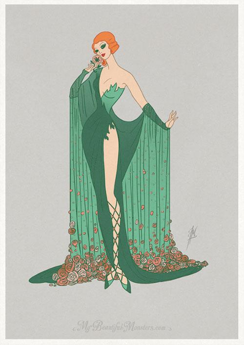 Art Deco Fashion DC Gotham City Sirens Fan Art