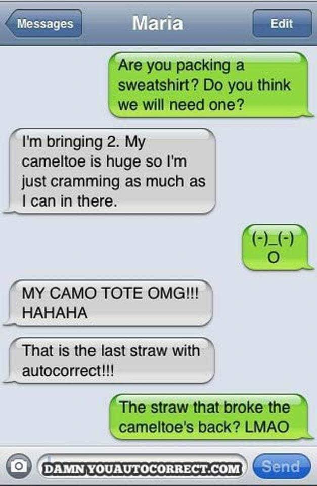 Hilarious Auto Correct Fails