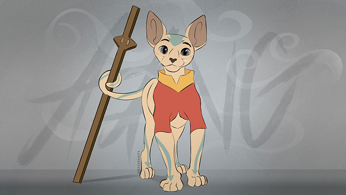Avatar: The Last Airbender Characters as Cats Fan Art