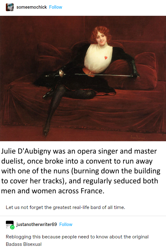 Julie dAubigny the Original Badass Bisexual