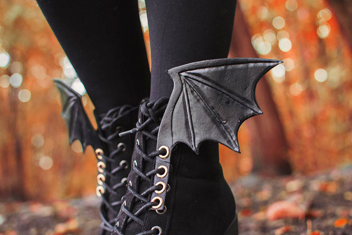Bat Shoe Wings Accessory