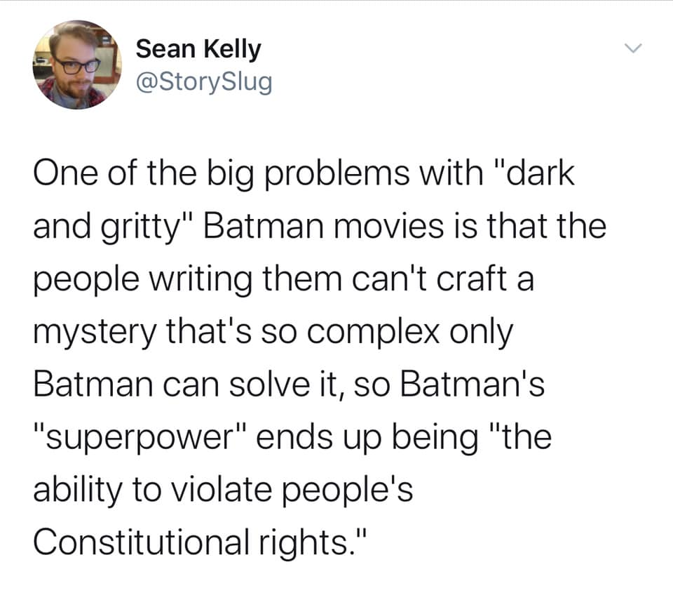 The Problem with Dark and Gritty Batman Movies