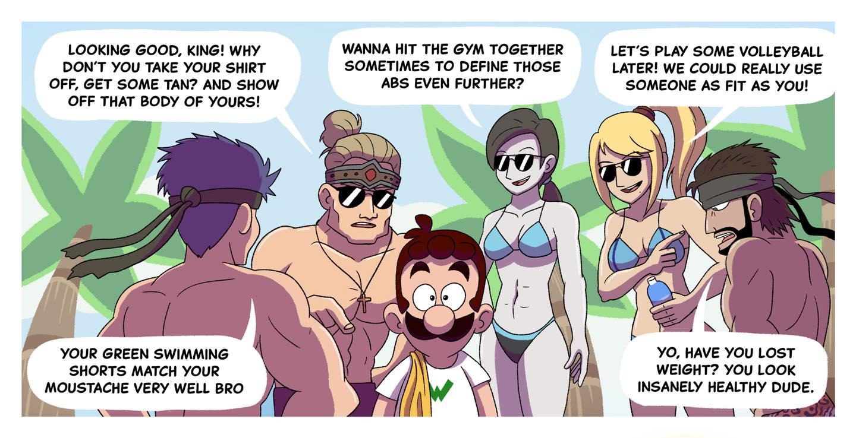 Body Positivity Luigi Comic
