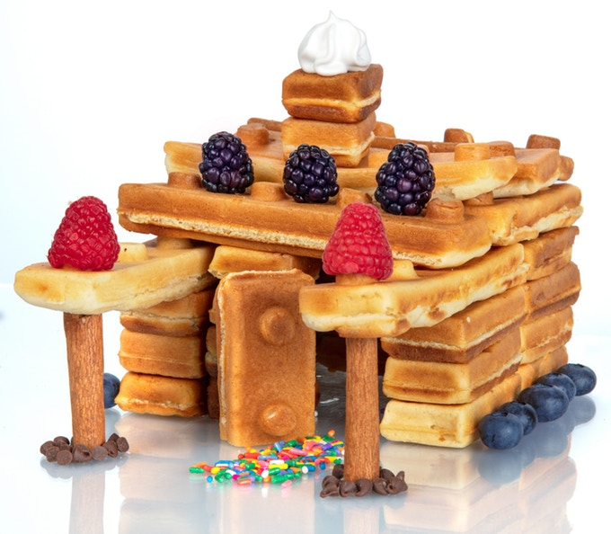 The Worlds First Building Brick Breakfast Waffle Maker