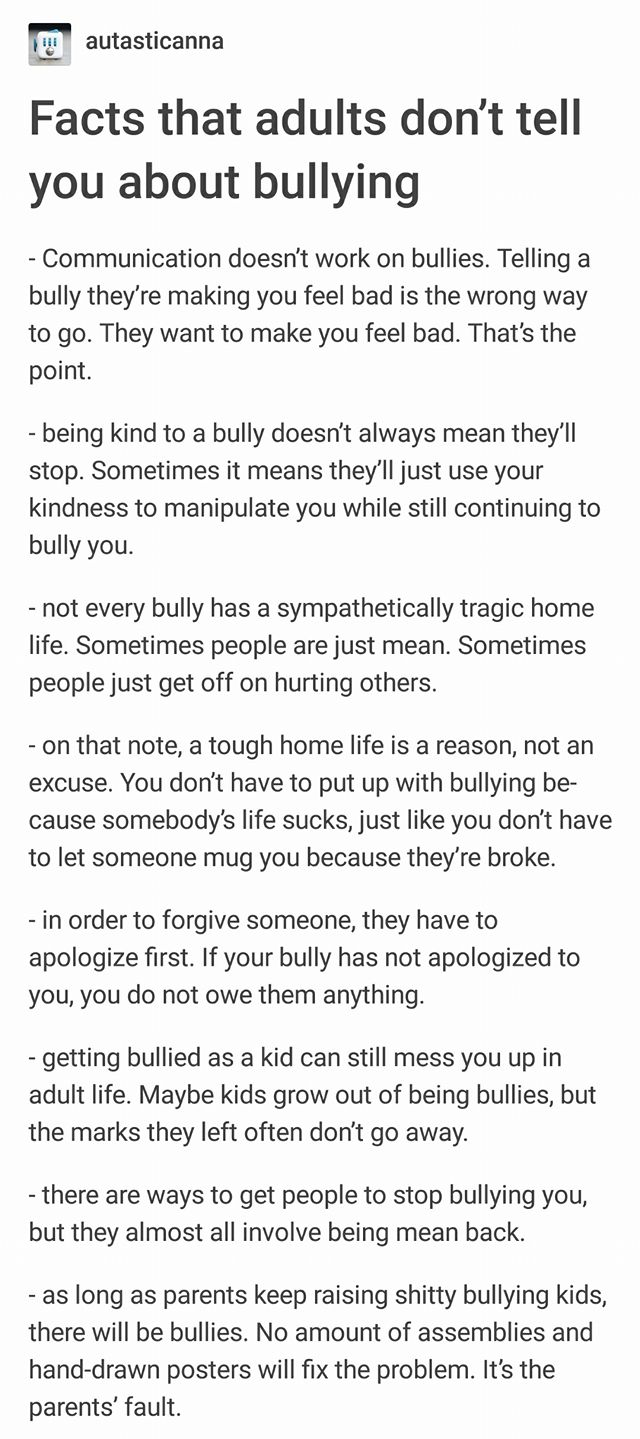 Facts That Adults Dont Tell You About Bullying