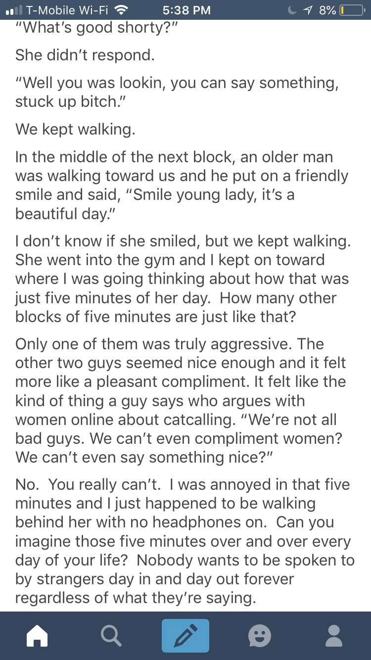 A Mans Take on Witnessing a Woman Being Catcalled
