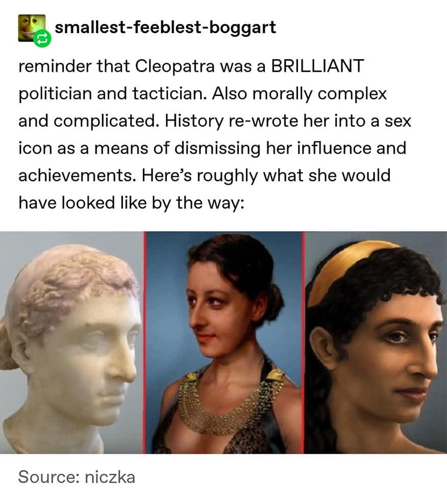 Cleopatra Talks to Mark Antony & Julius Caesar