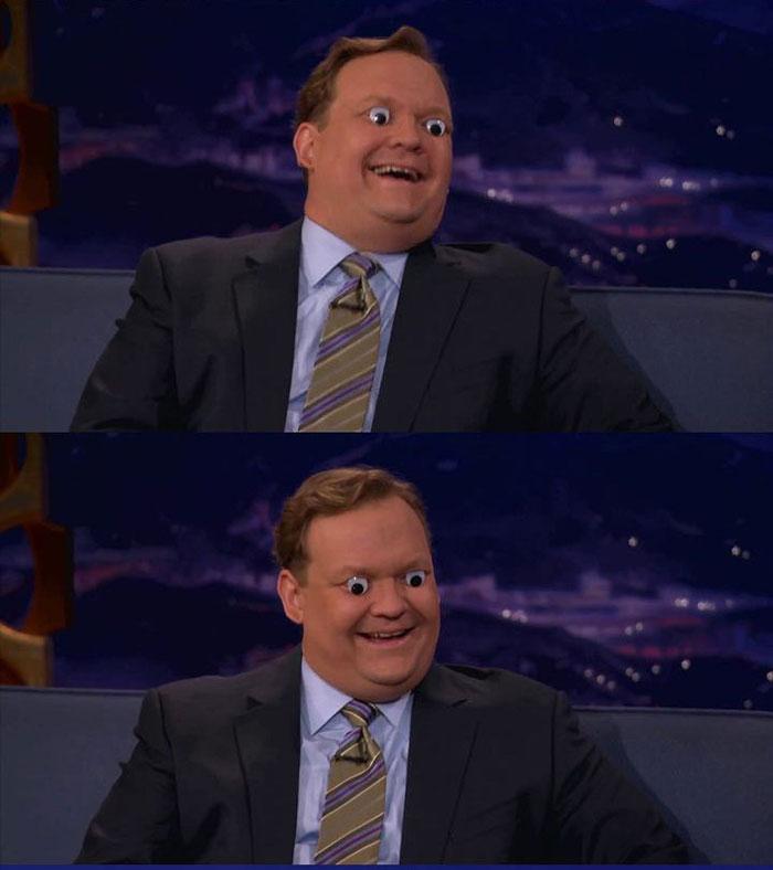 Seth Green & Conan Play With Googly Eyes