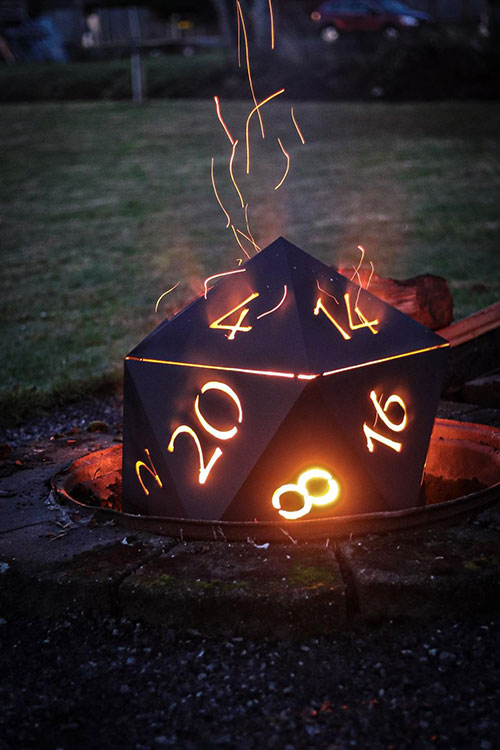Dungeons & Dragons D20 Firepit