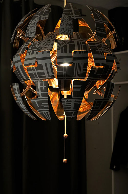 IKEA Lamp Turned Into an Exploding Death Star from Star Wars
