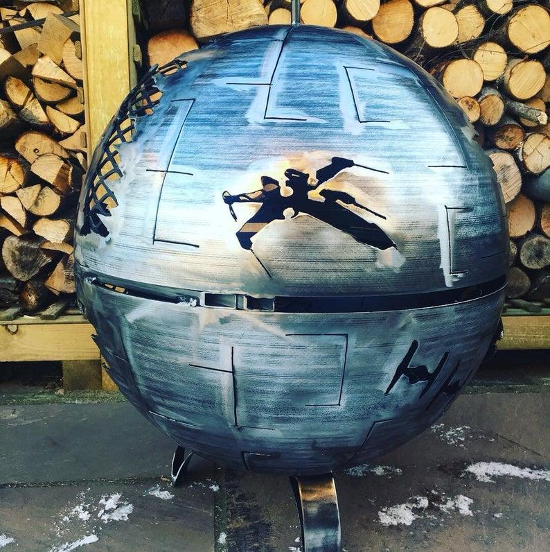 Star Wars Death Star Wood Burner