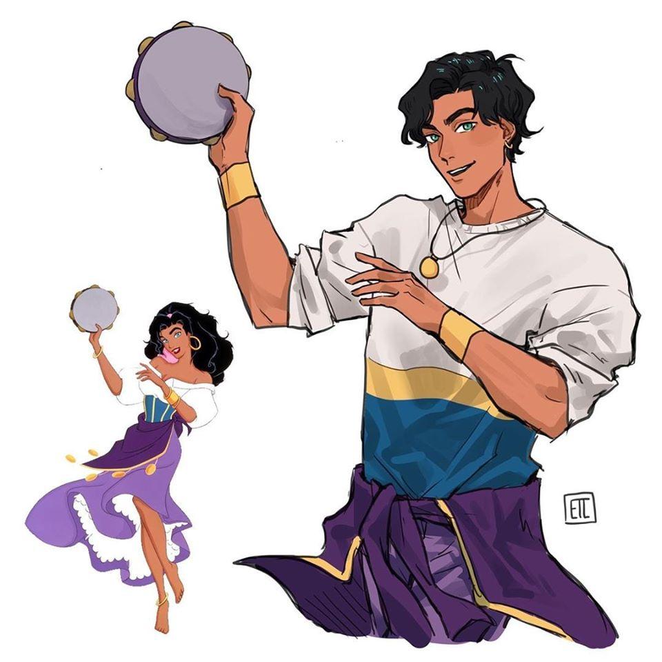 Disney Princesses as Princes Fan Art