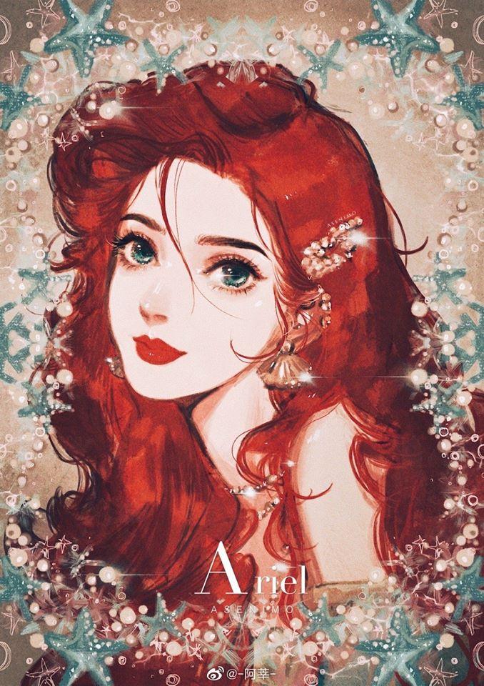 Disney Princess Fan Art Portraits