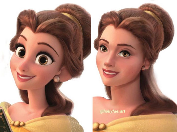 Disney Princesses If They Had Realistic Proportions