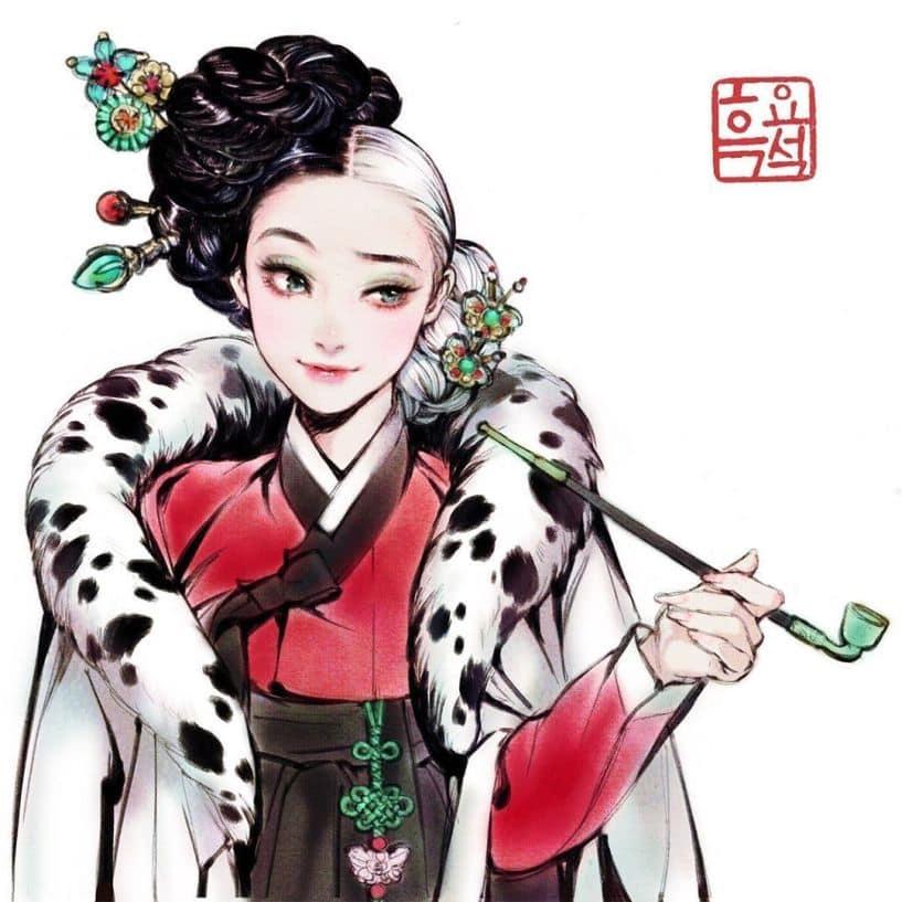 Korean Disney Villains Fan Art