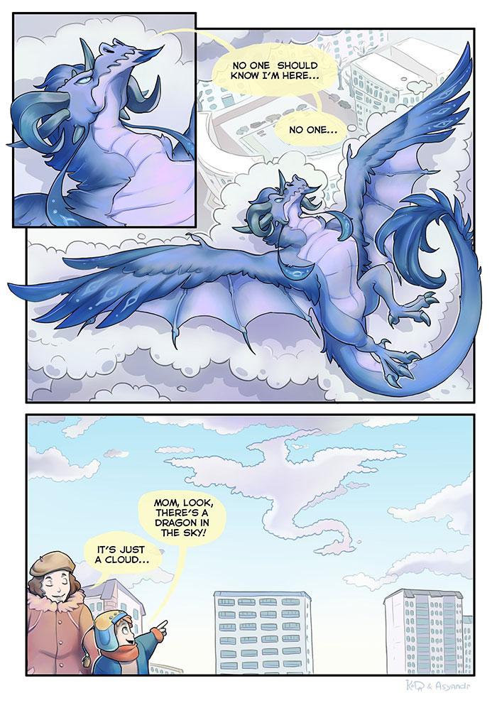 Dragon Hiding Comic