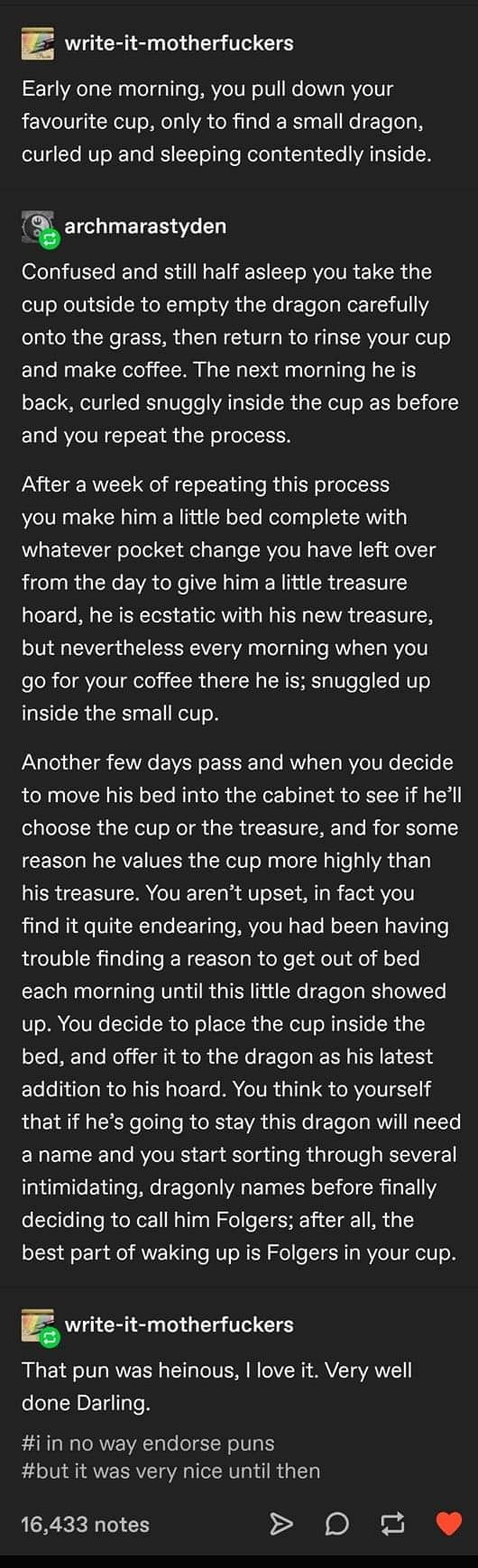 Tiny Dragon in Your Cup