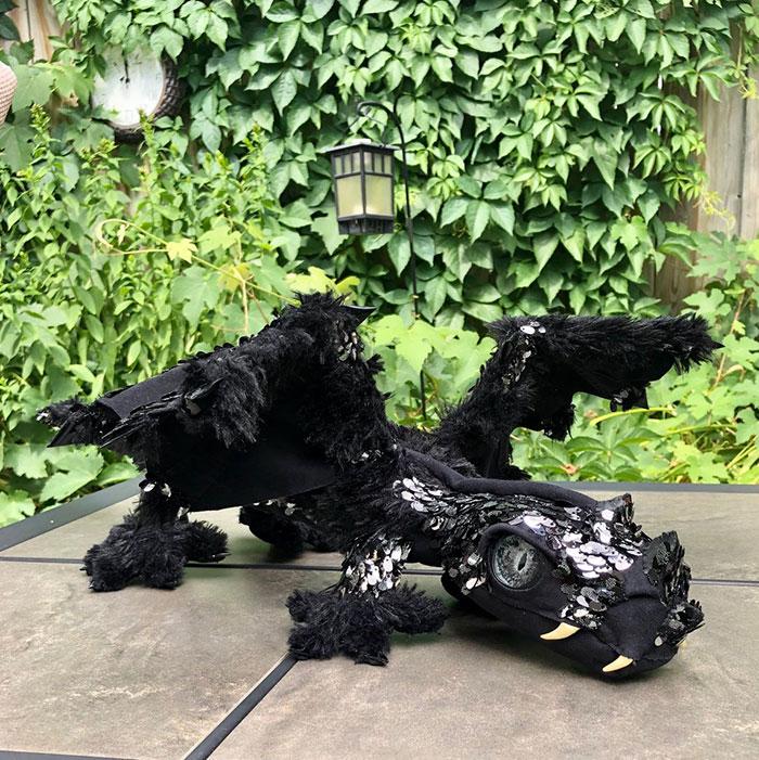 Handmade One Of A Kind Black Dragon