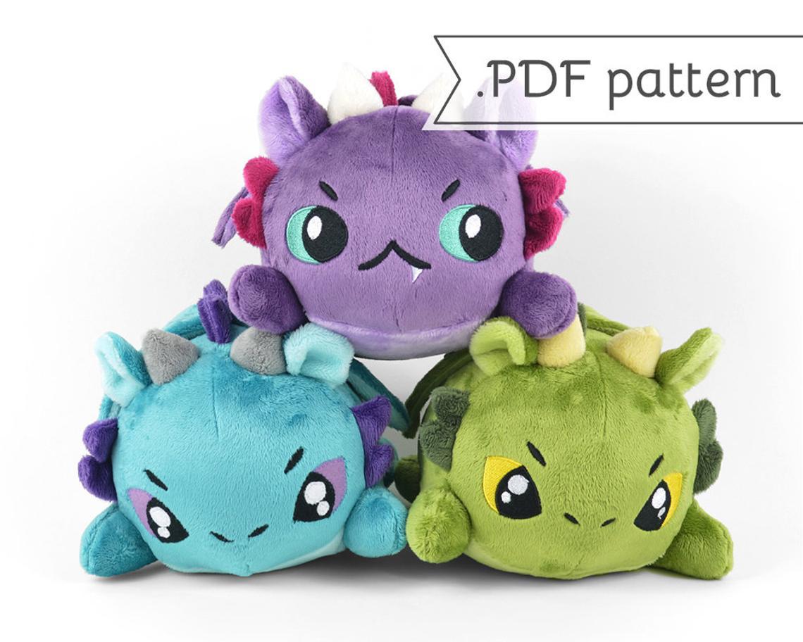 Dragon Plush Sewing Patterns