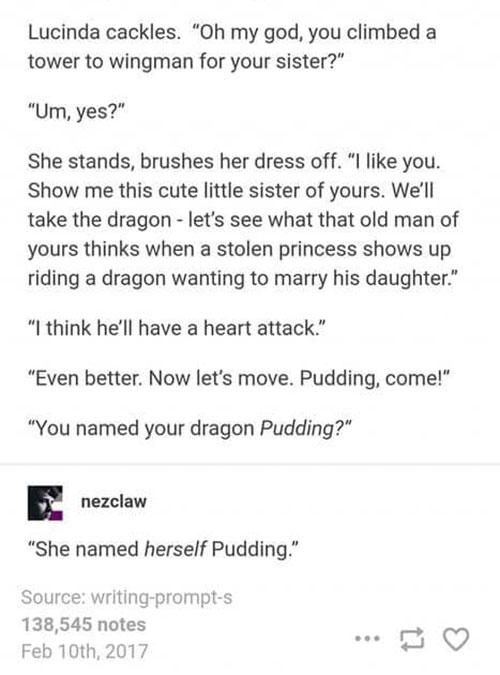 Knight Rescues a Lesbian Princess Writing Prompt