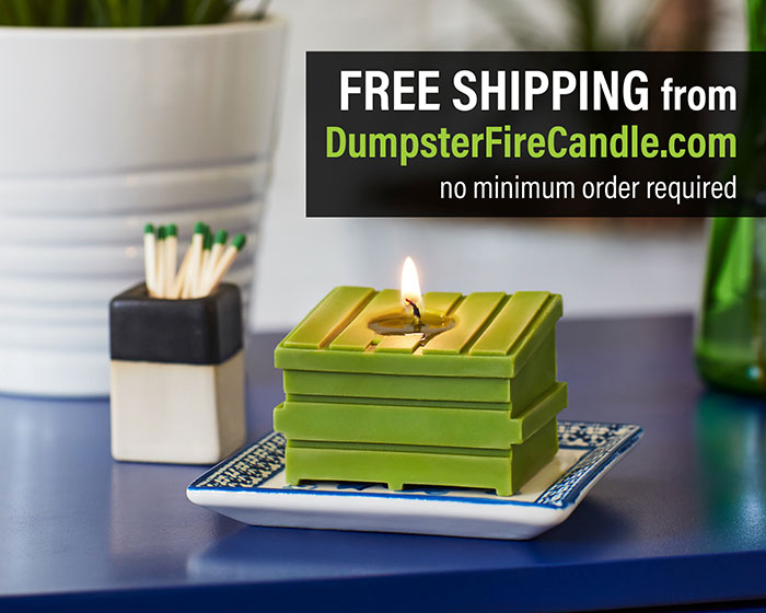 Dumpster Fire Candle