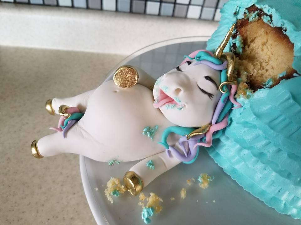 Fat Unicorn Cake