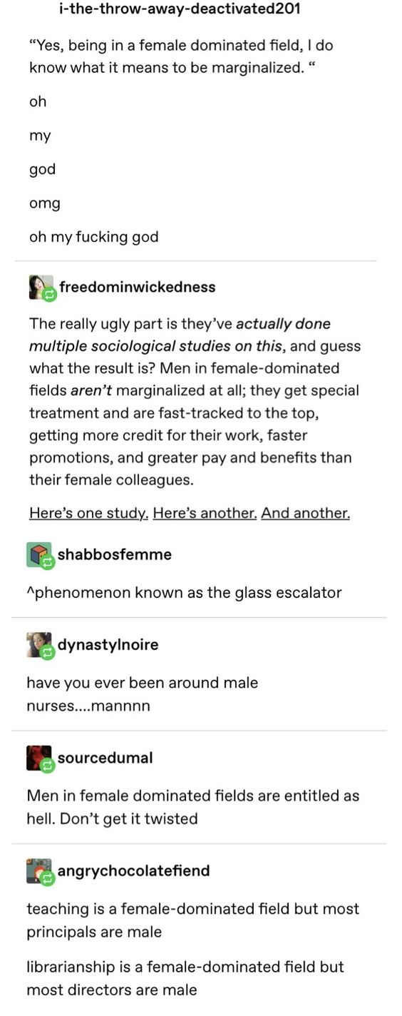 Men in Female Dominated Fields