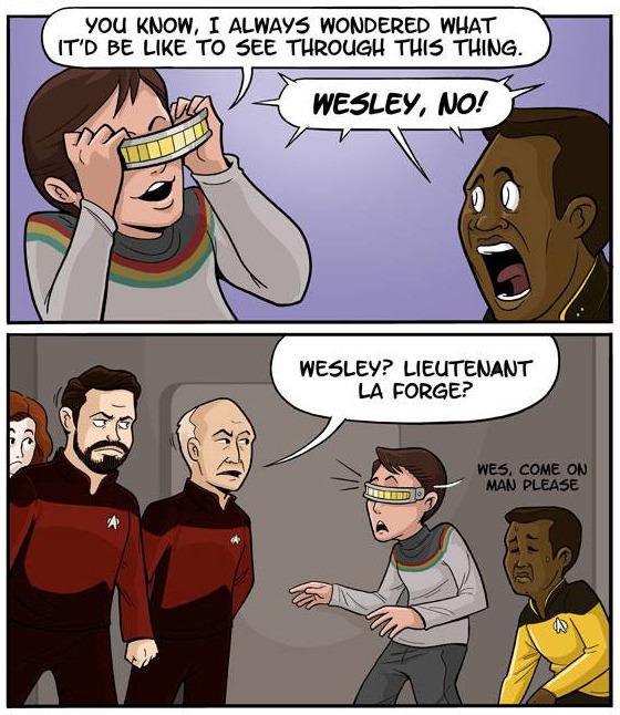 Geordis Visor in Star Trek: TNG Comic