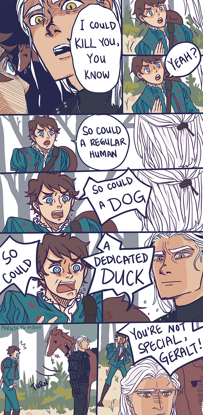 Incorrect Witcher Quote Comic