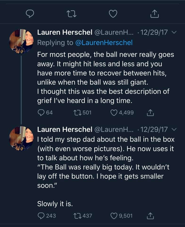 Explaining Grief With the Ball and the Box