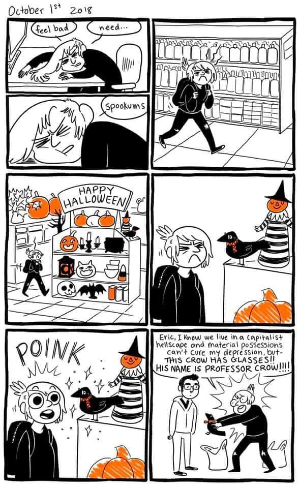 Halloween Retail Therapy Comic