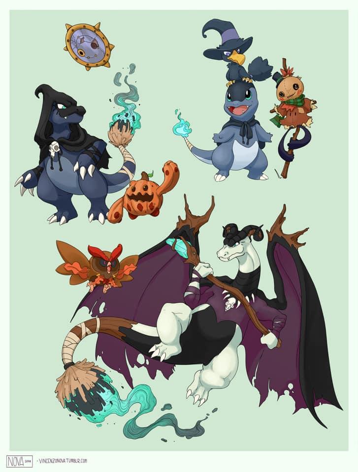 Halloween Pokemon Fan Art