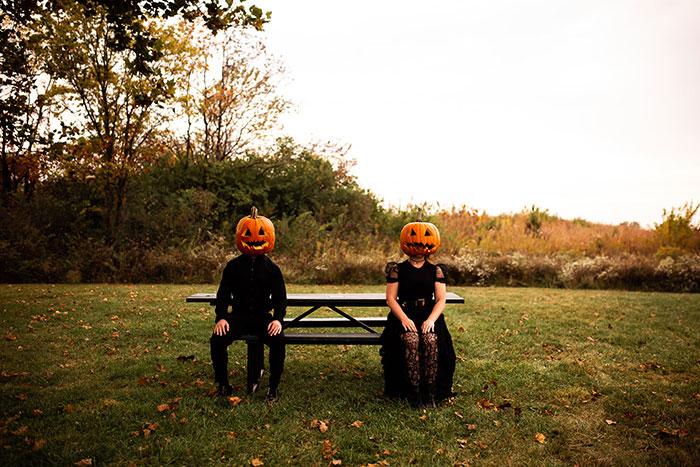 Pumpkin Heads Halloween Photoshoot