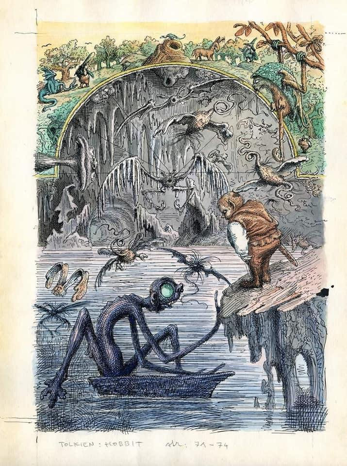 Illustrations for an Unpublished Version of The Hobbit