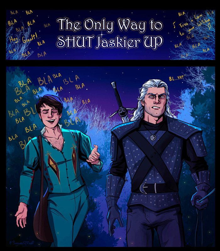 The Only Way To Shut Jaskier Up Witcher Comic
